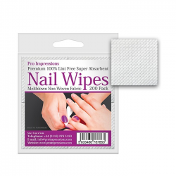 Meltblown Lint Free Nail Wipes - 200 Pack