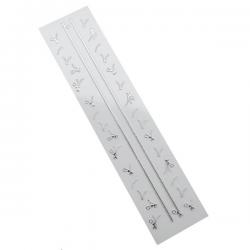 3D Silver Zipper Nail Stickers