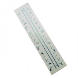 3D Zipper Nail Stickers - Blue