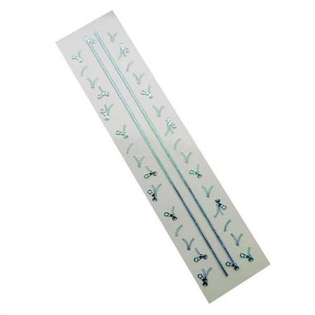 3D Blue Zipper Nail Stickers
