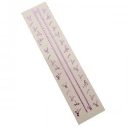 3D Zipper Nail Stickers - Purple