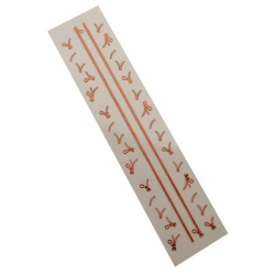 3D Zipper Nail Stickers - Orange