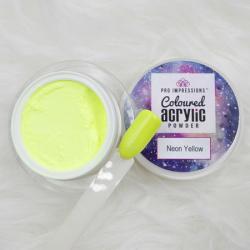 Neon Yellow Coloured Acrylic Powder -10g