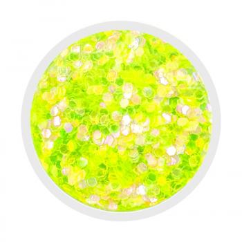 Neon Yellow Iridescent Chunky Glitter - 1g