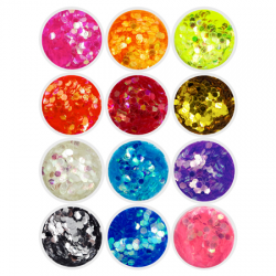 Hexagon Glitters - 12 Pack