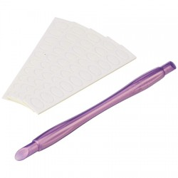 Cuticle Pusher With Replacement Filing Pads