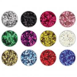 Mini Hexagon Glitter 12 Pack - 1g