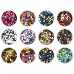 Party Confetti Glitter Mix 12 Pack - 1g