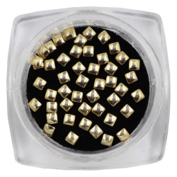 Gold Square Metal Studs - 2mm