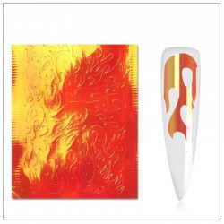 Flame Nail Stickers - Red