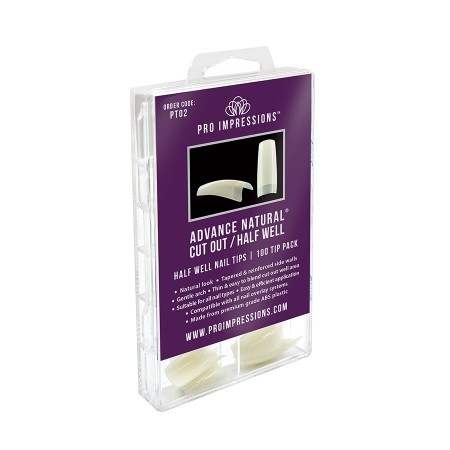 Advance Natural® Cut Out / Half Well Nail Tips