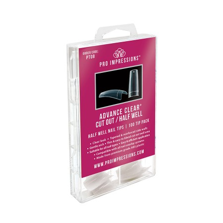 Advance Clear® Cut Out / Half Well Nail Tips
