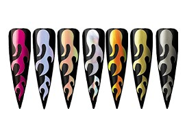 Flame Nail Stickers